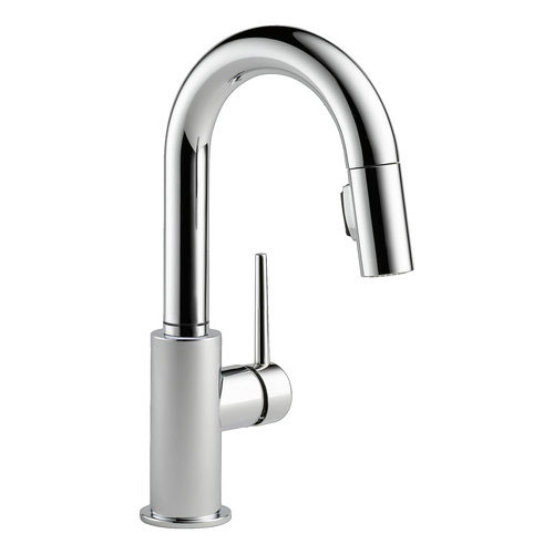 Delta 9959-DST Trinsic Single Handle Pull-Down Bar/Prep Faucet - Chrome