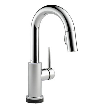 Delta 9959T-DST Trinsic Single Handle Pull-Down Bar/Prep Faucet Featuring Touch2O Technology - Chrome