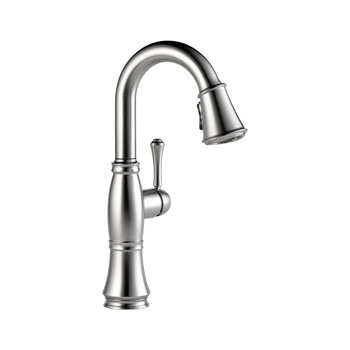 Delta 9997-AR-DST Cassidy Single Handle Bar/Prep Faucet - Arctic Stainless