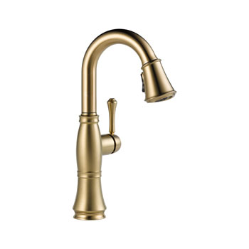 Delta 9997-CZ-DST Cassidy Single Handle Bar/Prep Faucet - Champagne Bronze
