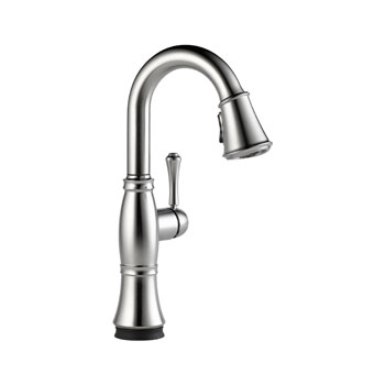 Delta 9997T-AR-DST Cassidy Single Handle Pull Down Bar/Prep Faucet with Touch2O Technology - Arctic Stainless