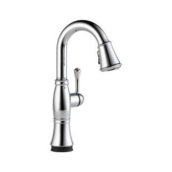 Delta 9997T-DST Cassidy Single Handle Pull Down Bar/Prep Faucet with Touch2O Technology - Chrome