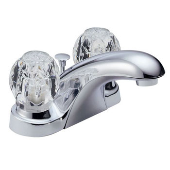 Delta B2512LF Foundations Core-B Two Handle Centerset Lavatory Faucet - Chrome