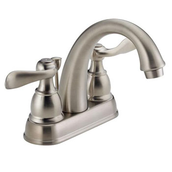Delta B2596LF-SS Foundations Windemere Two Handle Centerset Lavatory Faucet - Brilliance Stainless