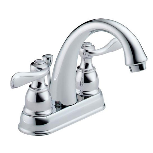 Delta B2596LF-PB Foundations Windemere Two Handle Centerset Lavatory Faucet - Polished Brass (Pictured in Chrome)