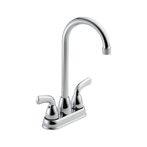 Delta B28910LF Foundations Core-B Two Handle Bar/Prep Faucet - Chrome