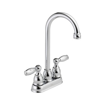 Delta B28911LF Foundations Core-B Two Handle Bar/Prep Faucet - Chrome