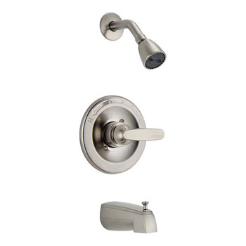 Delta BT13410-SS Foundations Core-B Monitor 13 Series Tub and Shower Trim - Brilliance Stainless