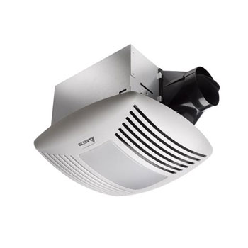 Delta Breez VFB25ADL 110 CFM Super Efficient Bath Fan With Lights - White