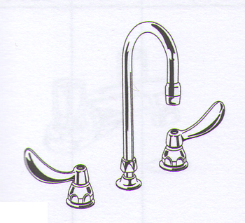 Delta Commercial 23T644 Teck (R) Series Two Handle Widespread Lavatory Faucet Chrome