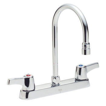 delta commercial 26c3933 teck r series two handle kitchen faucet chrome
