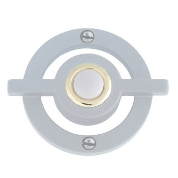 Atlas Homewares DB643-BRN Avalon Lighted Doorbell Button - Brushed Nickel
