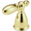 Delta H216PB Victorian Metal Lever Handle Brilliance Polished Brass (Set of Two)