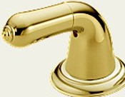 Delta H24PB Innovations Lever Handle Base Brilliance Polished Brass (Set of Two)