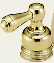 Delta H25PB Metal Lever Handles Brilliance Polished Brass (Set of Two)