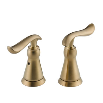 Delta H294CZ Linden Two Lever Handle Kit - Champagne Bronze