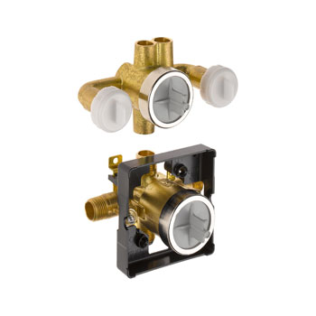 Delta R18000-XOWS Jetted Shower Rough-In Valve with extra Outlet 6-Setting