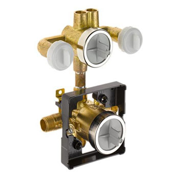 Delta R18222-XOWS Monitor (R) 18 Pre-Plumbed 6-Function Jetted Shower Rough-In Valve with Extra Outlet and Stops
