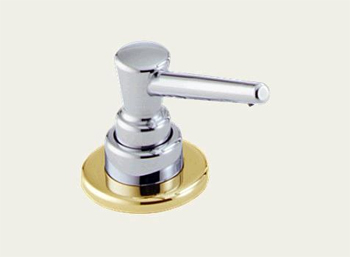 Delta RP1001CB Classic Kitchen Soap/Lotion Dispenser Chrome & Brilliance Polished Brass