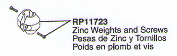 Delta RP11723 Replacement Zinc Weights and Screws
