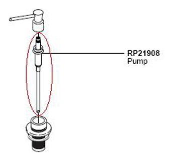 Delta RP21908 Classic Pump Assembly for RP1001 Soap Dispenser