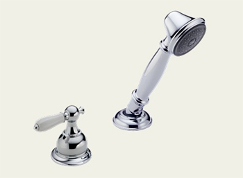 Delta RP33791LHP Victorian Roman Tub Hand Held Shower and Diverter Chrome