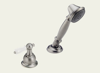 Delta RP33791SSLHP Victorian Roman Tub Hand Held Shower and Diverter Brilliance Stainless