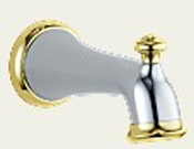 Delta RP38450CB Botanical Diverter Tub Spout Chrome & Brilliance Polished Brass