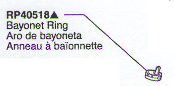 Delta RP40518 Leland Replacement Bayonet Ring Black