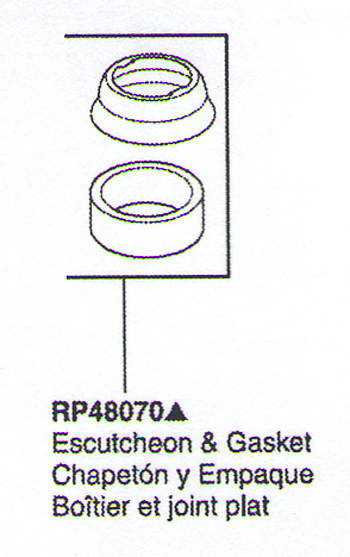 Delta RP48070 Saxony Replacement Escutcheon & Gasket Chrome