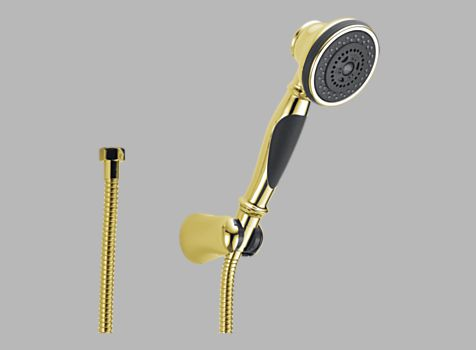 Delta RP48770PB Traditional Three Function Hand Held Showerhead - Polished Brass