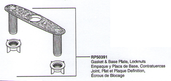 Delta RP50391 Saxony Replacement Gasket, Base Plate, and Locknuts