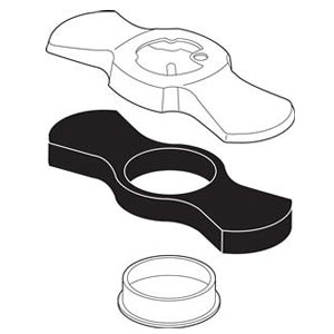 Delta RP61046CZ Addison Escutcheon with Gasket - Champagne Bronze