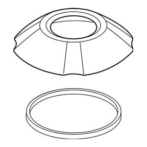Delta RP61285CZ Addison Roman Tub Handshower Base and Gasket - Champagne Bronze