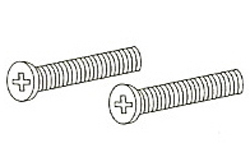Delta RP6404SS Overflow Plate Screws Brilliance Stainless