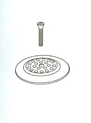 Delta RP7430NN Dome Strainer with Screw Pearl Nickel