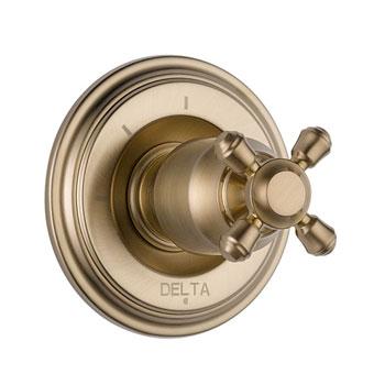 Delta T11897-CZLHP Cassidy 3 Function Diverter Trim, Less Handles - Champagne Bronze