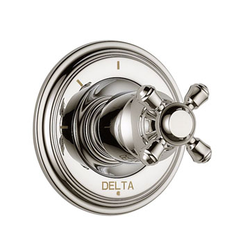 Delta T11897-PNLHP Cassidy 3 Function Diverter Trim, Less Handles - Polished Nickel