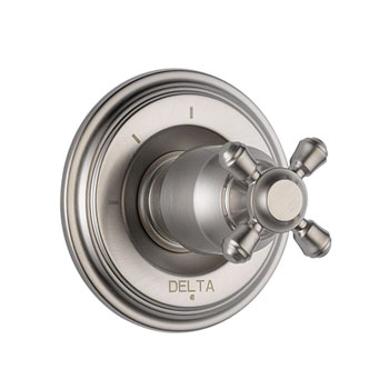 Delta T11897-SSLHP Cassidy 3 Function Diverter Trim, Less Handles - Stainless Steel