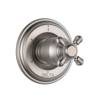 Delta T11997-SSLHP Cassidy 6 Function Diverter Trim, Less Handles - Stainless Steel