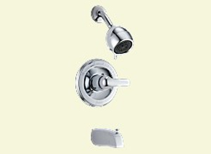 Delta T13420-SHC Classic Single Handle Tub/Shower Trim Chrome