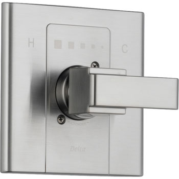 Delta T14086-SS Arzo Monitor Scald-Guard Single Handle Tub/Shower Valve Trim - Brilliance Stainless