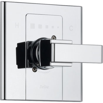 Delta T14086 Arzo Monitor Scald-Guard Single Handle Tub/Shower Valve Trim - Chrome