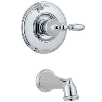 Delta T14155-LHP Victorian Bath Collection Single Handle Tub Trim Chrome