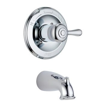 Delta T14178-LHP Leland Bath Series Single Handle Tub Trim Chrome