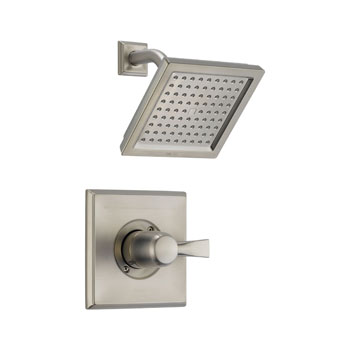 Delta T14251-SS Dryden Monitor Single Handle Pressure Balance Shower Trim - Brilliance Stainless