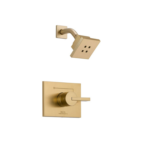 Delta T14253-CZH2O Vero 14 Series Shower Trim with H20Kinetic Technology - Champagne Bronze