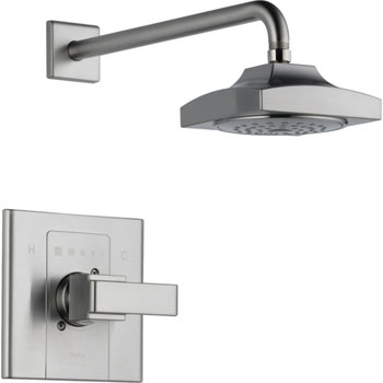 Delta T14286-SS Arzo Monitor Scald-Guard Single Handle Shower Trim - Brilliance Stianless