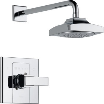 Delta T14286 Arzo Monitor Scald-Guard Single Handle Shower Trim - Chrome