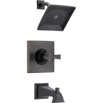 Delta T14451-RB Monitor Single Handle Pressure Balance Tub/Shower Trim - Venetian Bronze